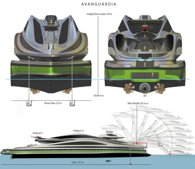 Avanguardia swan shaped mega yacht (2)