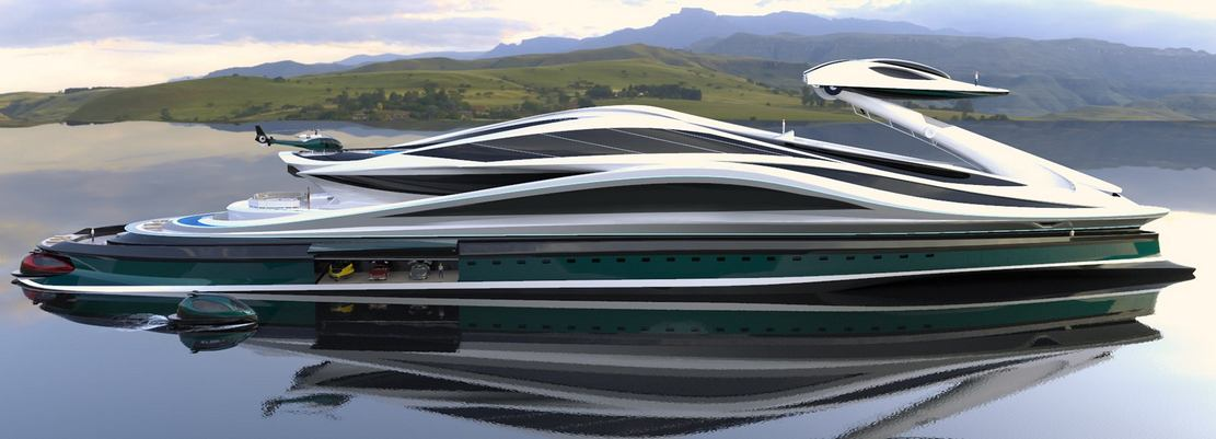 Avanguardia swan shaped mega yacht (1)