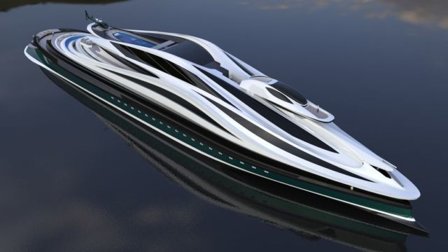 Avanguardia swan shaped mega yacht (15)