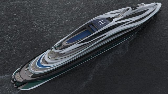 Avanguardia swan shaped mega yacht (14)