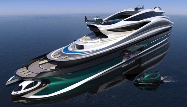 Avanguardia swan shaped mega yacht (13)