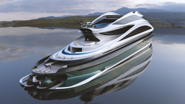 Avanguardia swan shaped mega yacht (12)