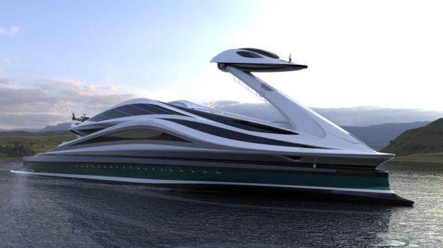 Avanguardia swan shaped mega yacht (11)