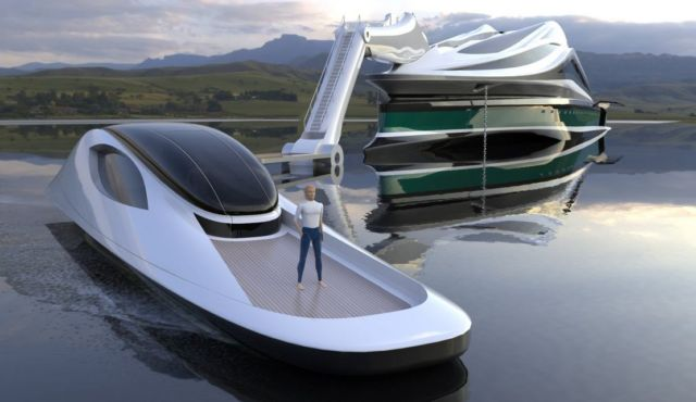 Avanguardia swan shaped mega yacht (10)