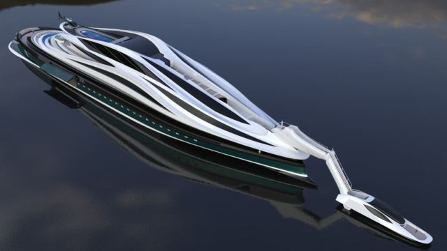 Avanguardia swan shaped mega yacht (9)