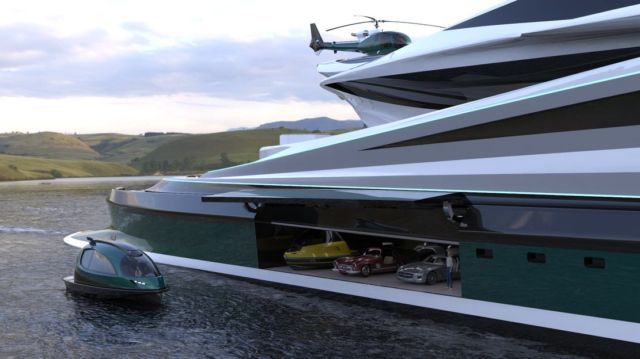 Avanguardia swan shaped mega yacht (8)