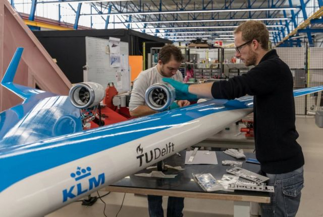 First flight of the scaled model TU Delft Flying-V