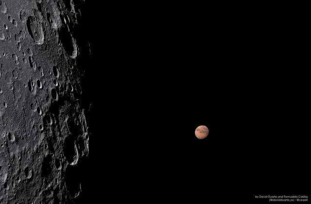 Lunar Occultation of Mars
