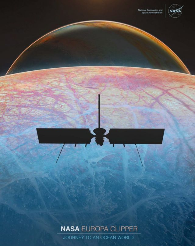 NASA's New Poster for the Europa Clipper Mission