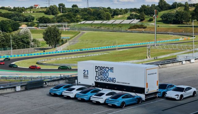 Porsche rolls out High-power charging trucks for Taycan