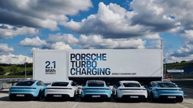 Porsche rolls out High-power charging trucks for Taycan (2)