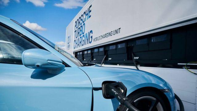 Porsche rolls out High-power charging trucks for Taycan (1)