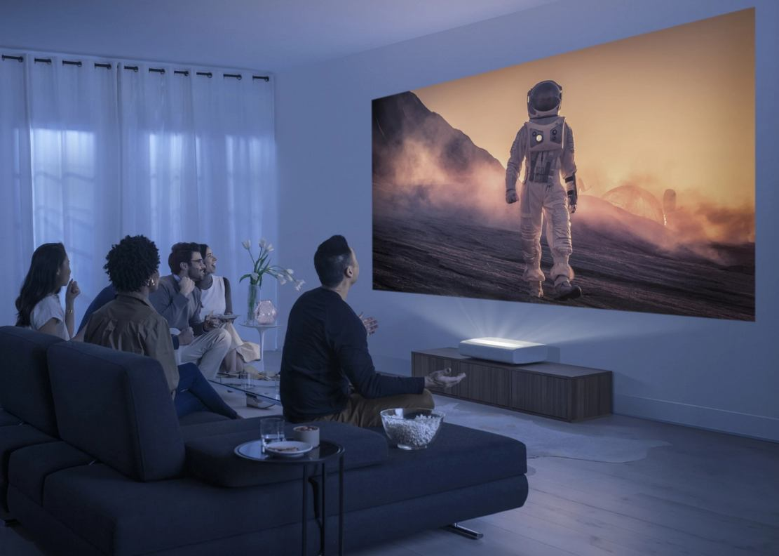 Samsung new Cinematic 4K Laser Projector