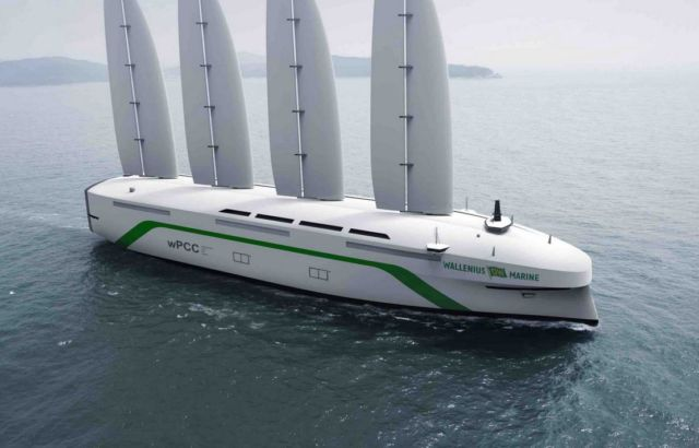Swedish giant Wind-Powered Car Carrier
