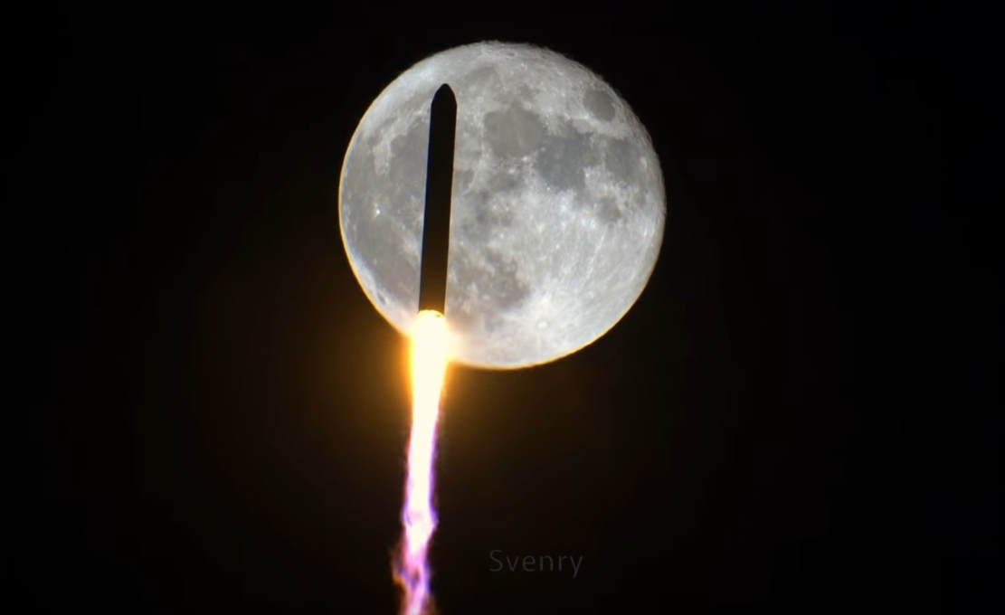 Amazing Rocket Lunar Transit photo
