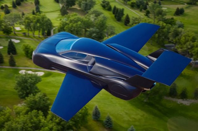 Firenze Twin-jet flying Hypercar concept