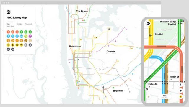 Live New York Subway map