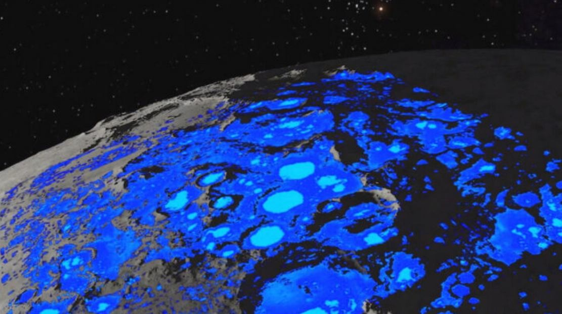 NASA discovers Water on Sunlit Surfaces of the Moon