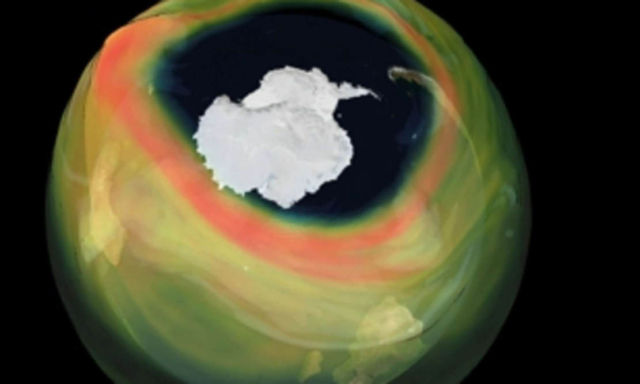 Ozone Hole over Antarctic the is the largest in recent years