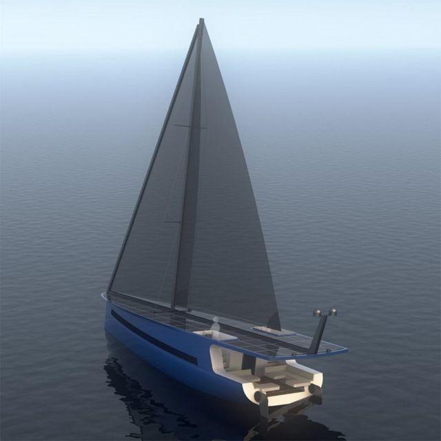 P1 Solar-Powered Sailing Yacht (1)