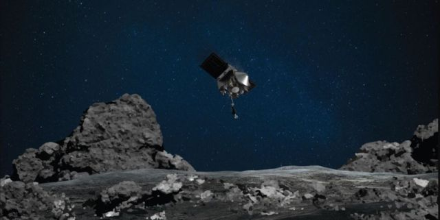 OSIRIS-REx spacecraft touched asteroid Bennu (4)