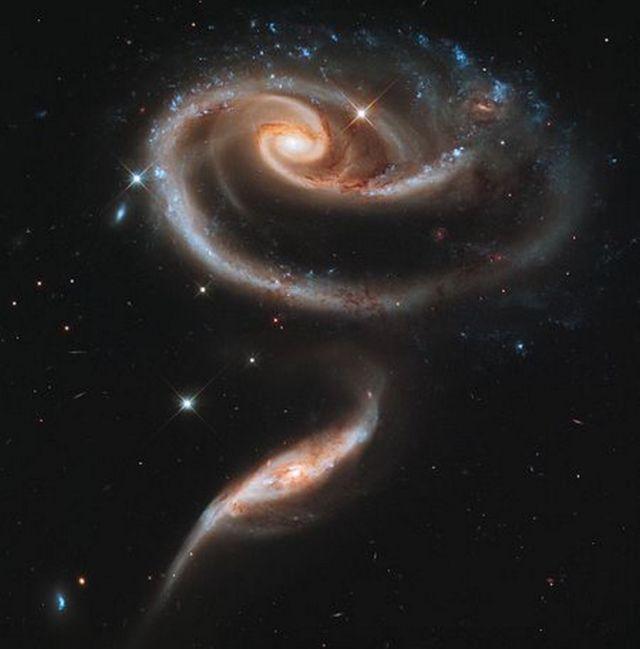 UGC 1810- wildly Interacting Galaxy