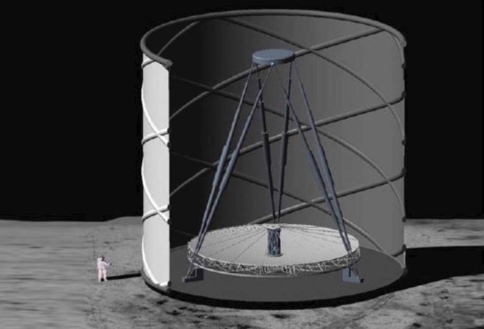 A Huge Telescope on the Moon to study the Big Bang (1)