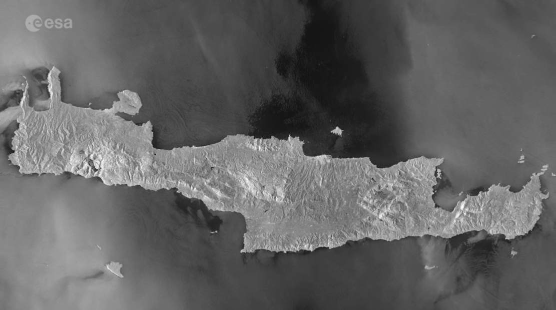 Crete island from Space