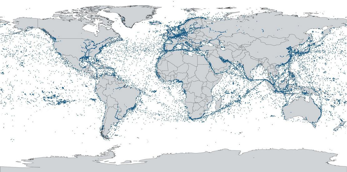ESAIL Map of Global Shipping