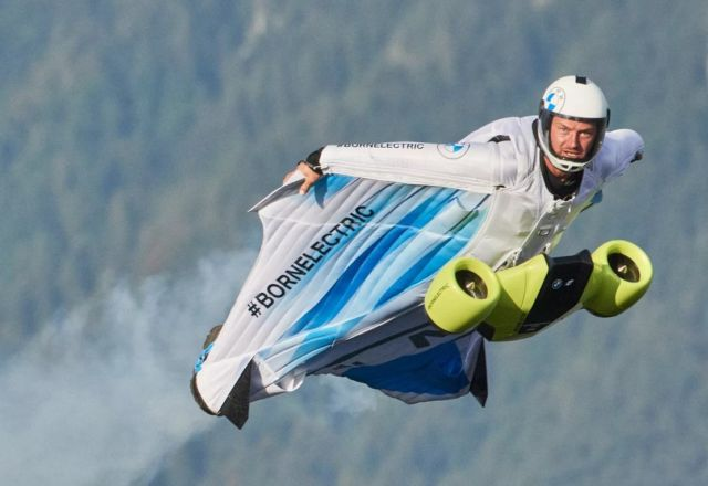 Electrified Wingsuit Flight