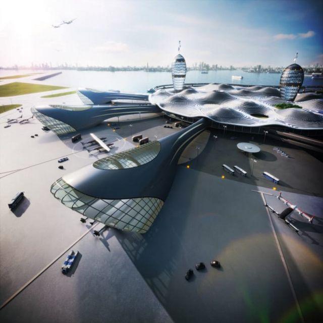 Futuristic Japanese Spaceport concept (1)