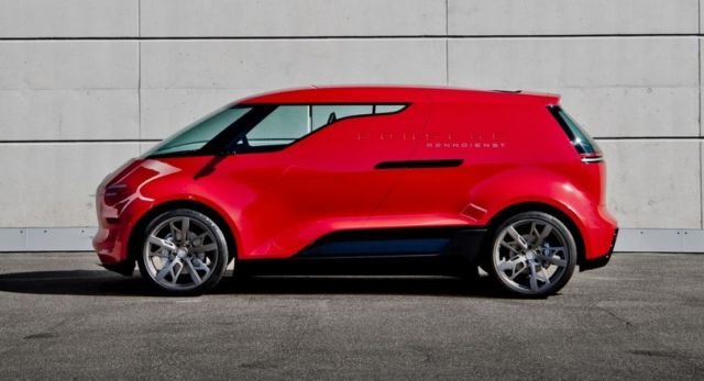 """Porsche vision """"Renndienst"""" electric minivan project (4)"""