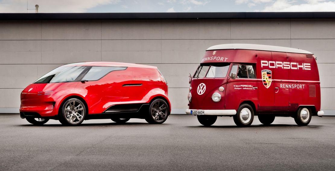 """Porsche vision """"Renndienst"""" electric minivan project (1)"""