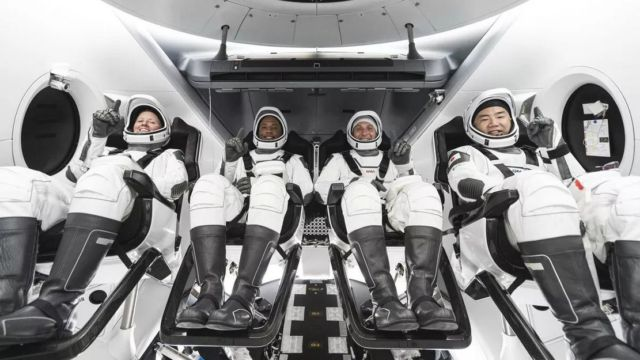 4 NASA Astronauts on historic Space Station mission