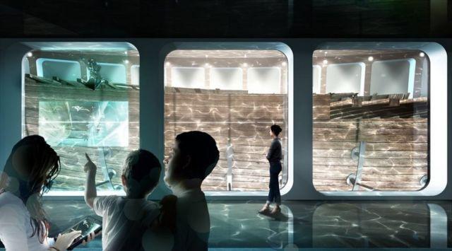Docking the Amsterdam shipwreck (2)