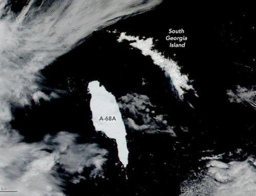 Giant Iceberg approaching South Georgia island
