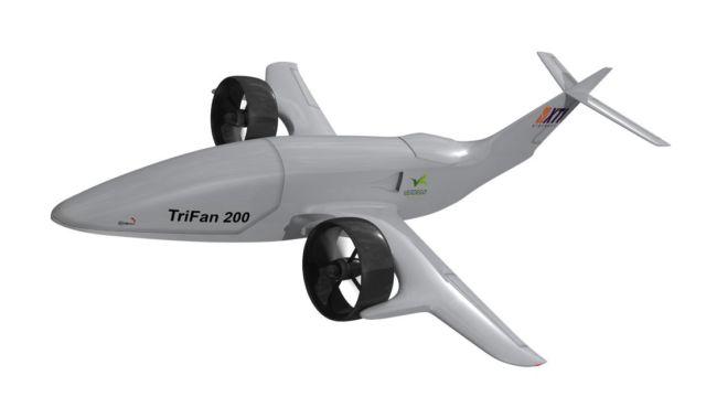 Hybrid-Electric VTOL TriFan 200 cargo drone