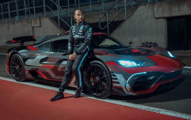 Lewis Hamilton driving the Mercedes-AMG Project ONE