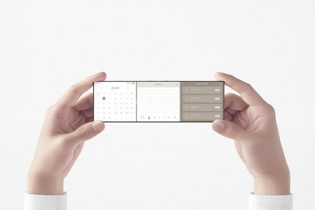Nendo credit card-sized phone unfolds into three screens (3)