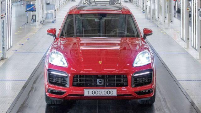 Porsche celebrates a million units of the Cayenne
