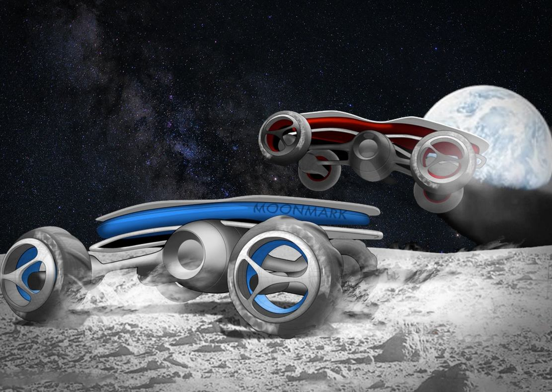 Remote-Control car race on the Moon