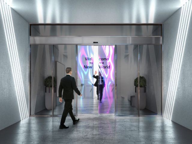 Transparent OLED Automatic Doors