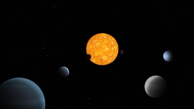 A unique Planetary System