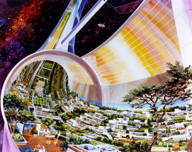 Retrofuturistic Space Art