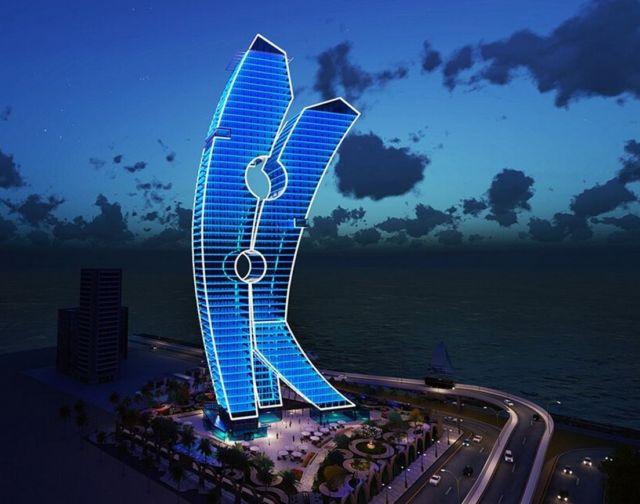 Clothespin Tower in Dubai