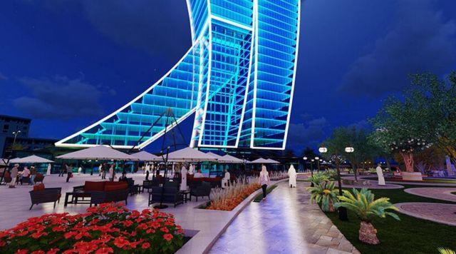 Clothespin Tower in Dubai (2)