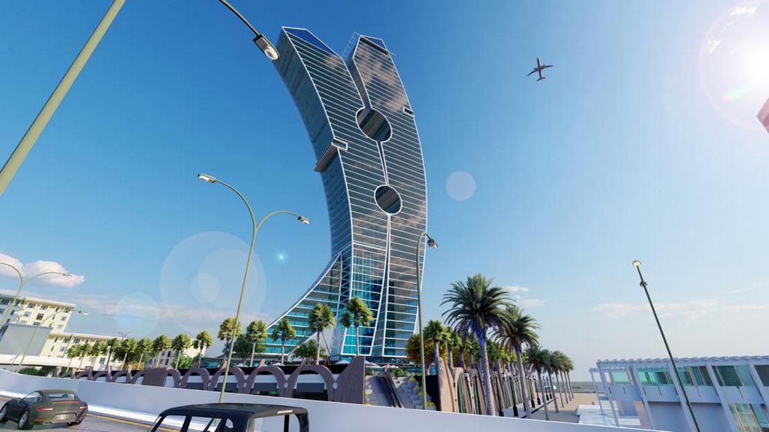 Clothespin Tower in Dubai (1)