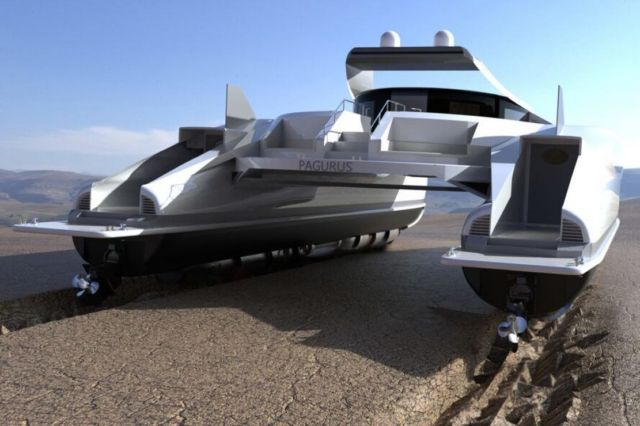 Lazzarini Pagurus amphibious catamaran (4)