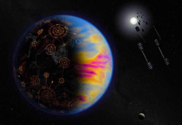 Pollution could be the solution to find an Extraterrestrial Civilization