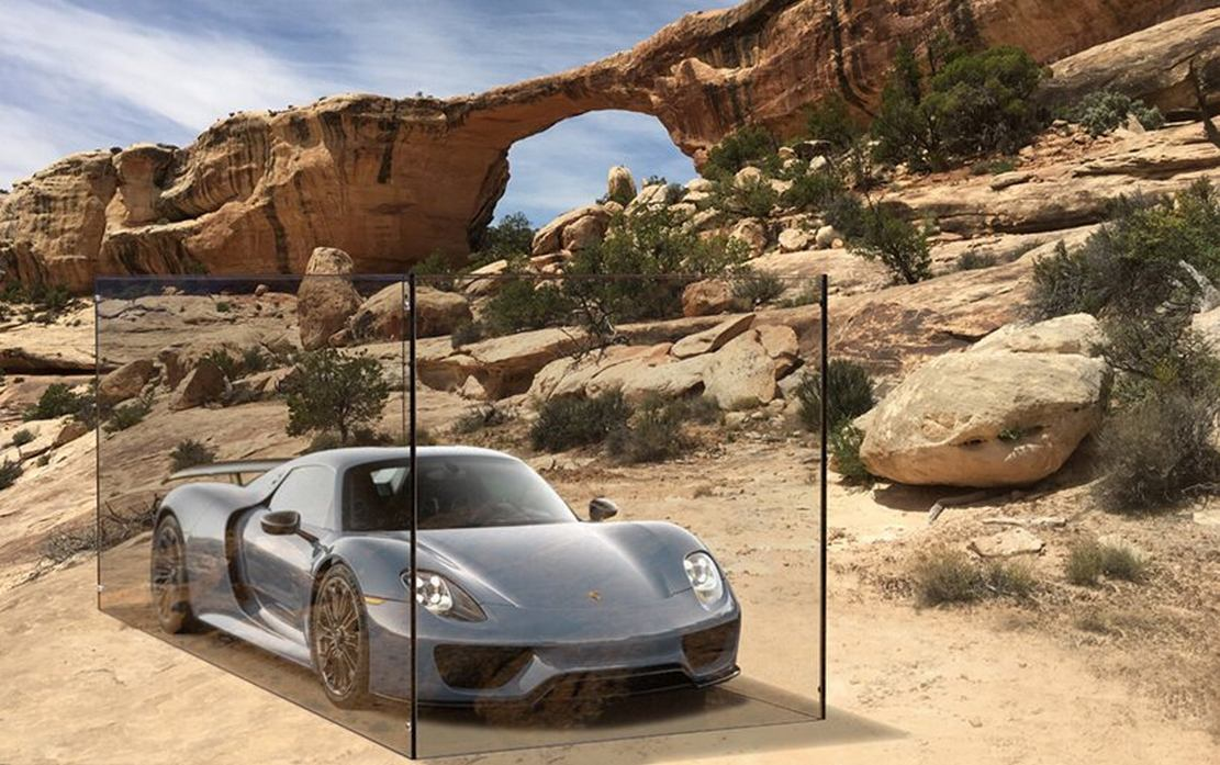 Porsches in Nature exhibition